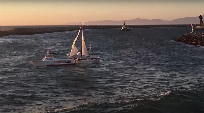 sailboat towing