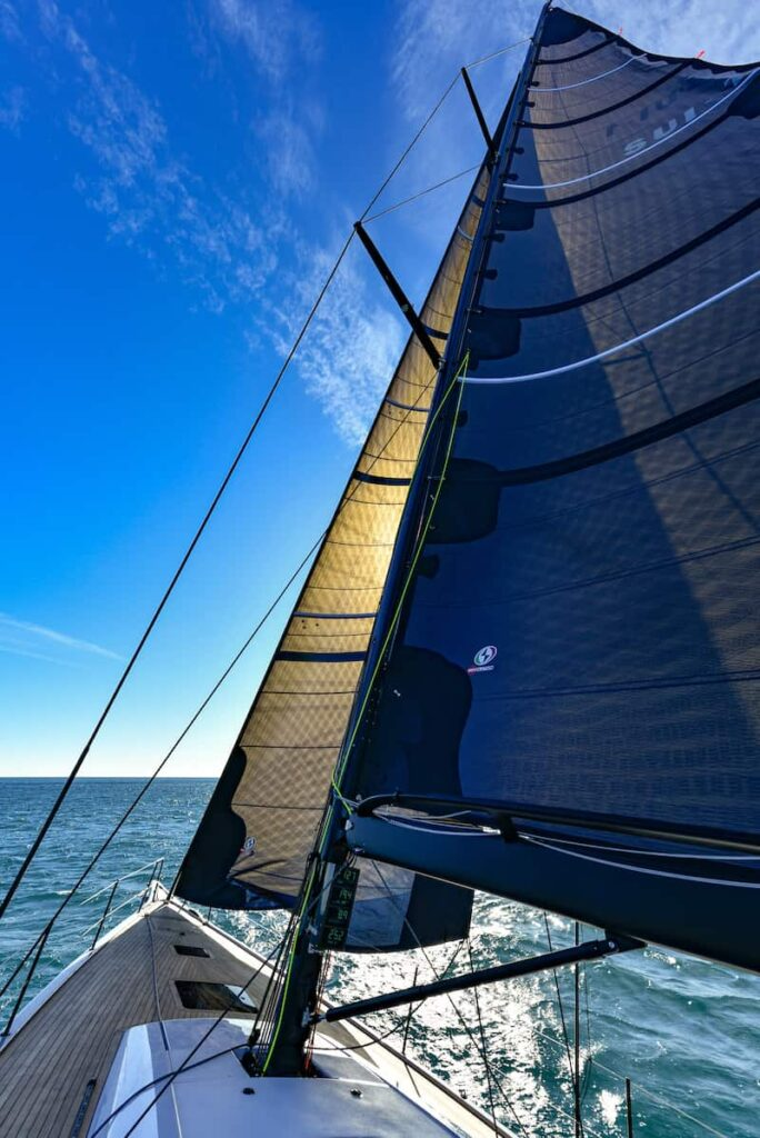 Ice 54 sea trial, sail plan