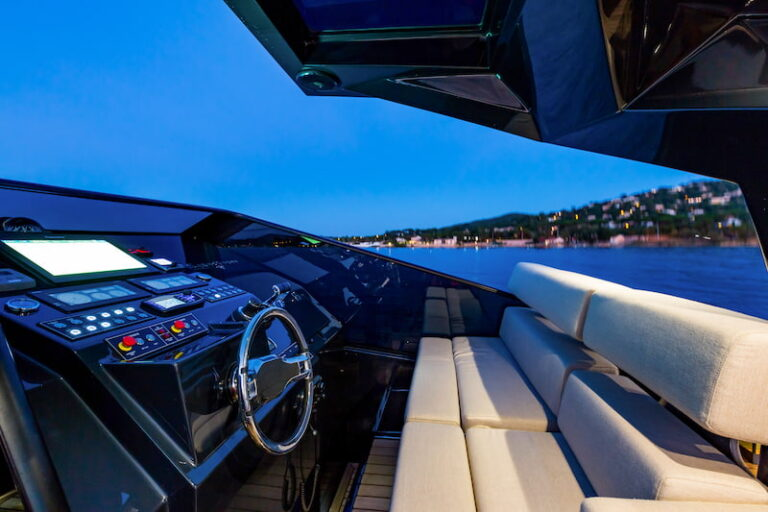Superocean 58 steering console