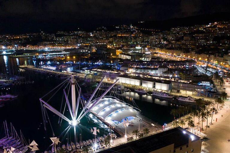 Marina Porto Antico video by night