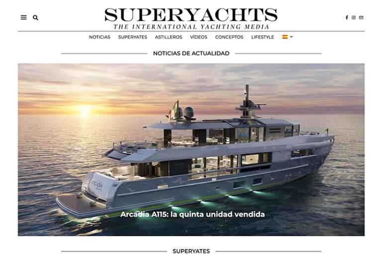 Superyachts Russian Spanish homepage