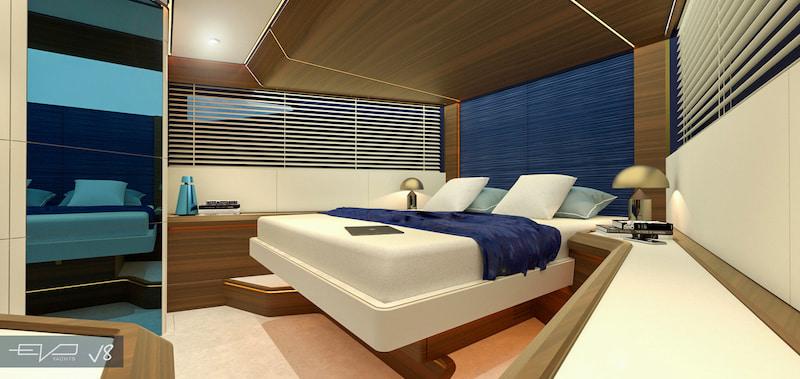 EVO V8 bow cabin